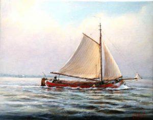 Maritieme schilders - Dutch_barge03_558_438_90 Willem Eerland