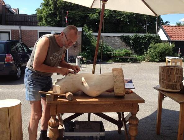 kunst in uitvoering kunstenaars aan het werk bij Kunst van Petra