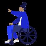 Kunst van Petra is ook rolstoel vriendelijk